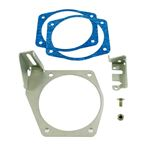 TSP LS1/LS2/LS6 Fabricated 102mm Intake Manifold Kit, Aluminum, Angled, Low Profile, Clear Anodized