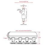 TSP 81001CA LS1/LS2/LS6 Fabricated Intake Manifold, Aluminum, Angeled, Clear Anodized