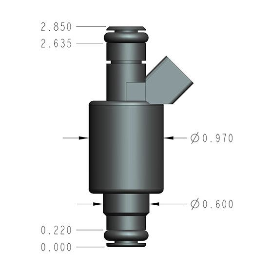 Holley 522-121 Universal Fuel Injector