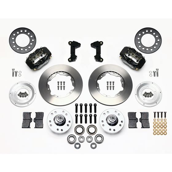 Wilwood 140-11017 1974-1978 Mustang II Forged Dynalite Pro Series Front Brake Kit, Black 11 in.