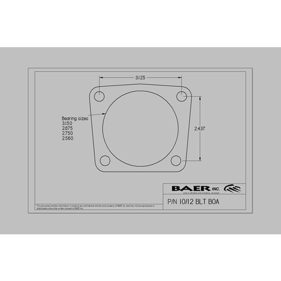 Baer Brakes 4302414B 1967-1969 GM F-Body SS4 12 in. Rear Brakes, with Park Brake, Black