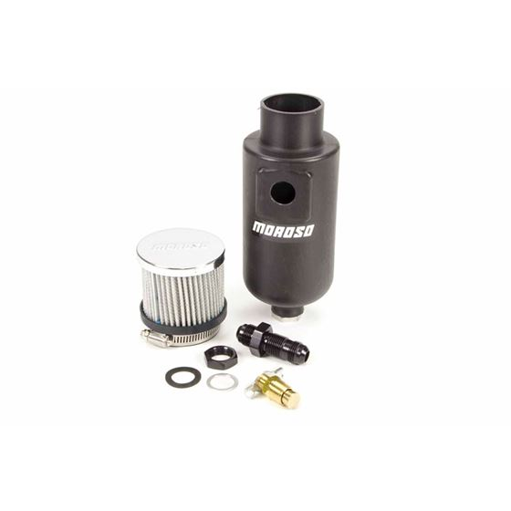 Moroso 85404 Overflow / Breather Tank, Black Poly