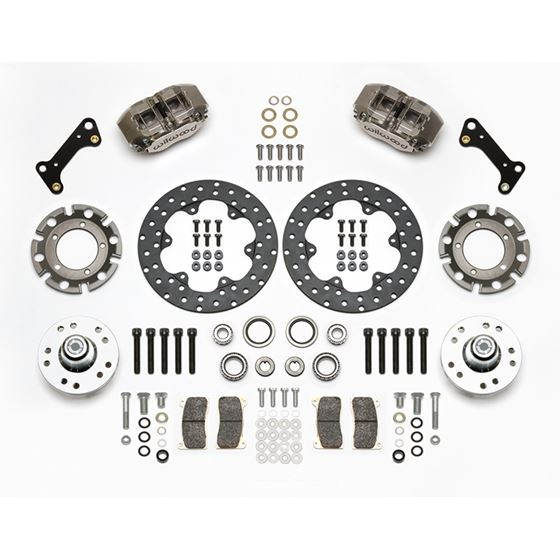 Wilwood 140-14417-DN 1964-1974 GM Dynapro Lug Mount Front Dynamic Drag Brake Kit