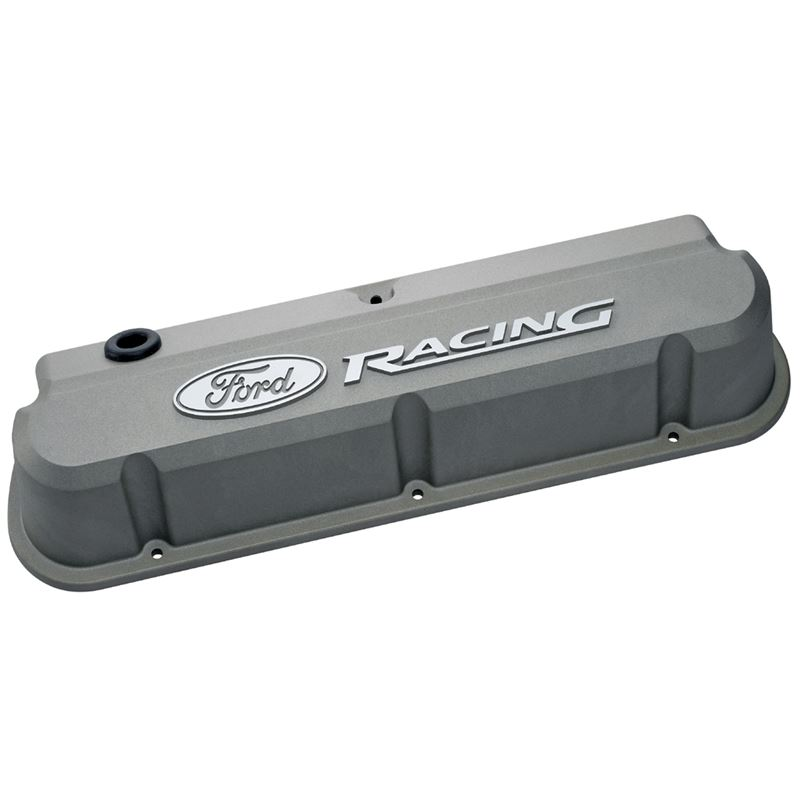 302-137 Valve Covers Slant Edge Tall Die Cast Gray