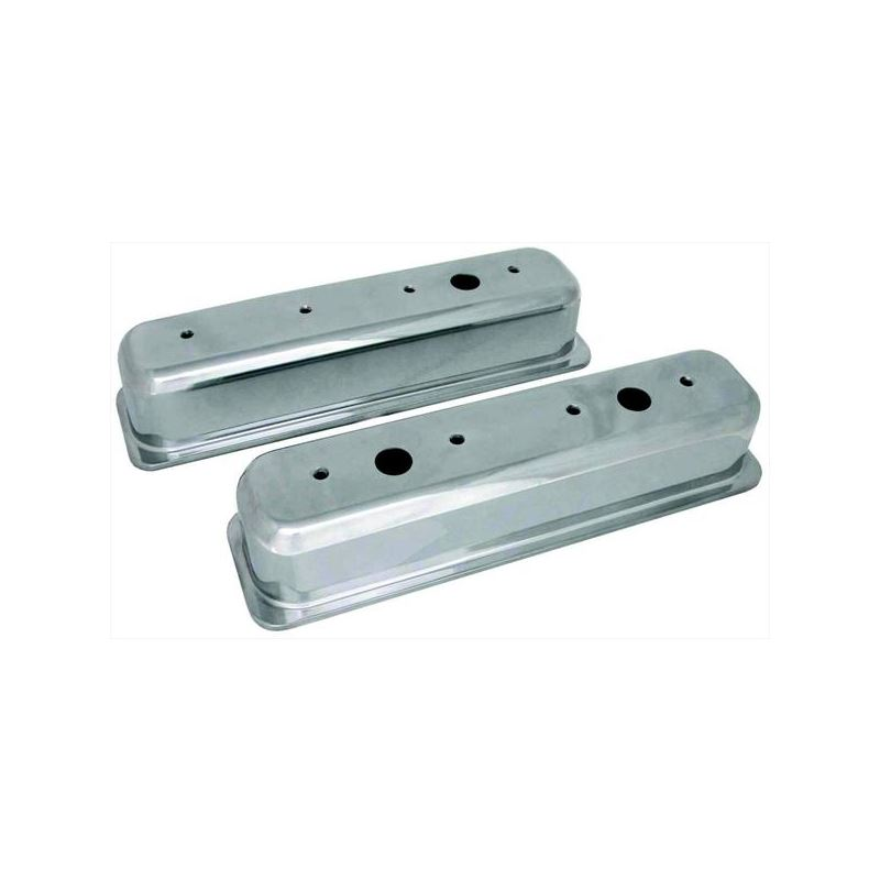 70033 3 11/16 in. Tall Polished Valve Covers,  Sma