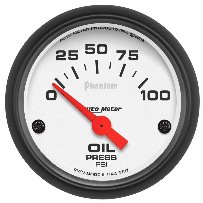 Autometer 5727 2 16 In  Oil Pressure Gauge  0