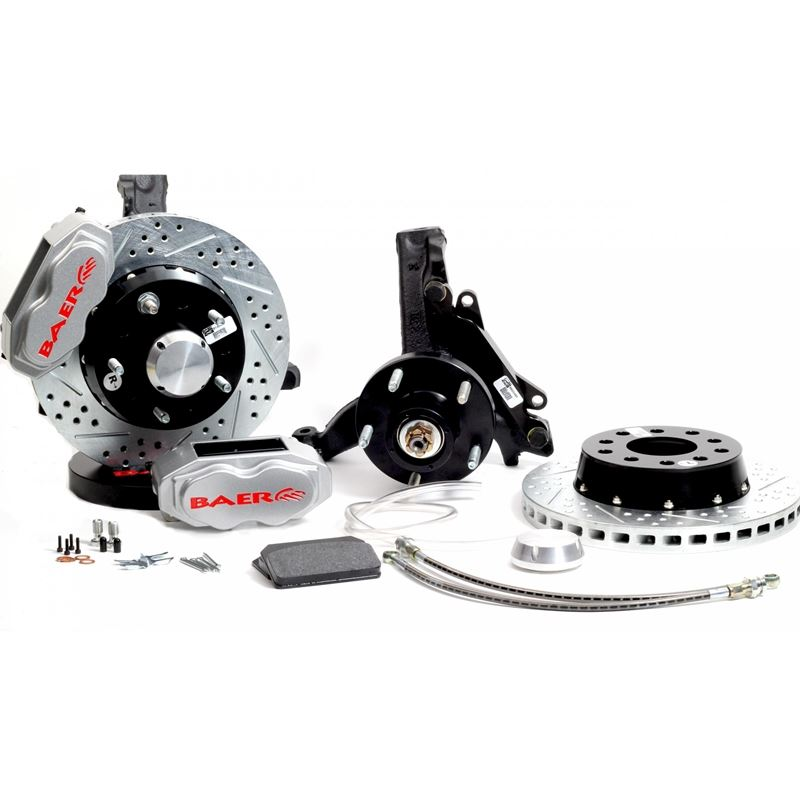 Brake System 11 Inch Front SS4+ Silver 78-87 GM G