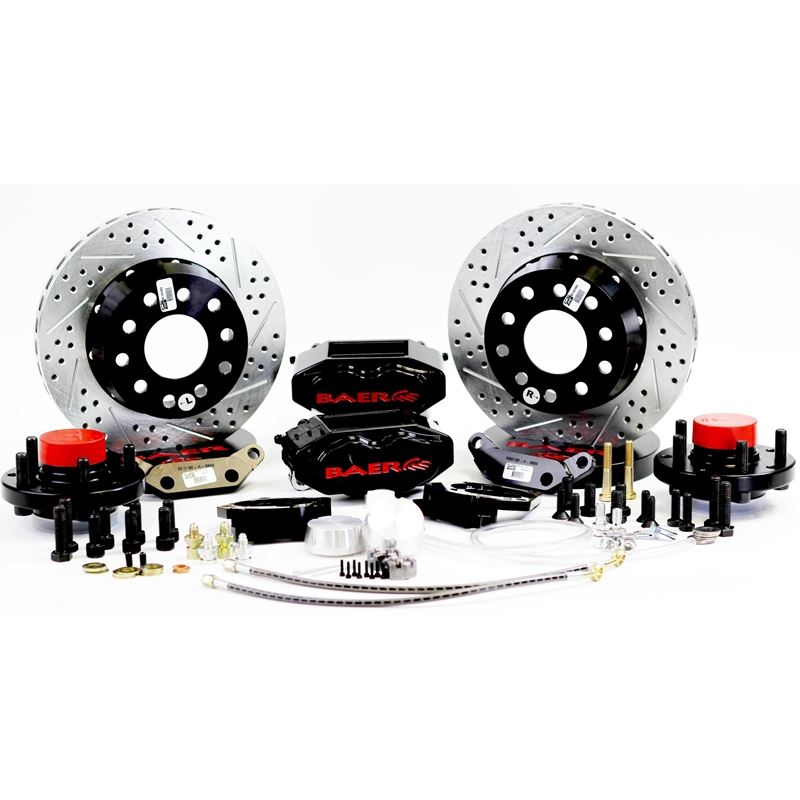 Brake System 11 Inch Front SS4+ Black 65-66 Ford/R