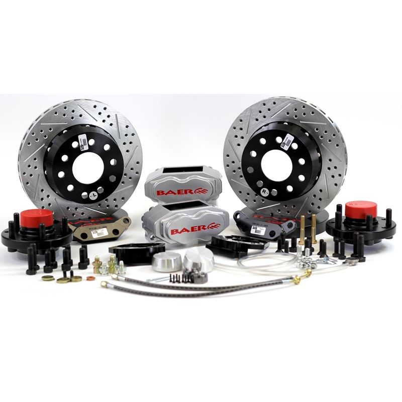 Brake System 11 Inch Front SS4+ Silver 37-48 Ford