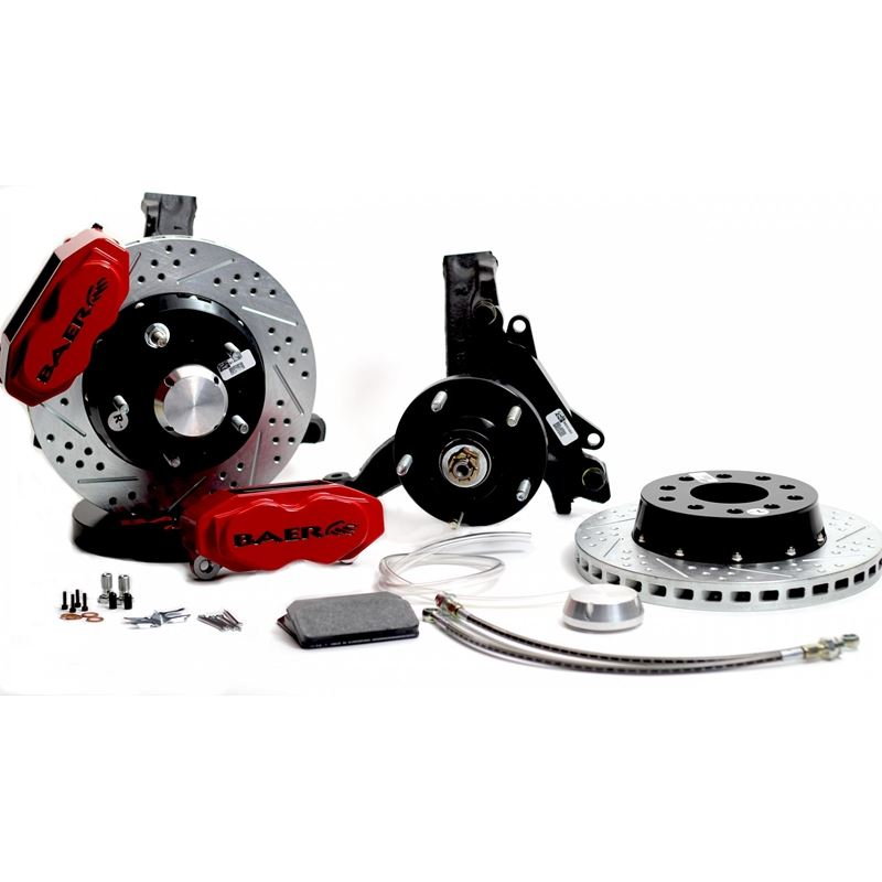 Brake System 11 Inch Front SS4+ Red 73-77 GM A Bod