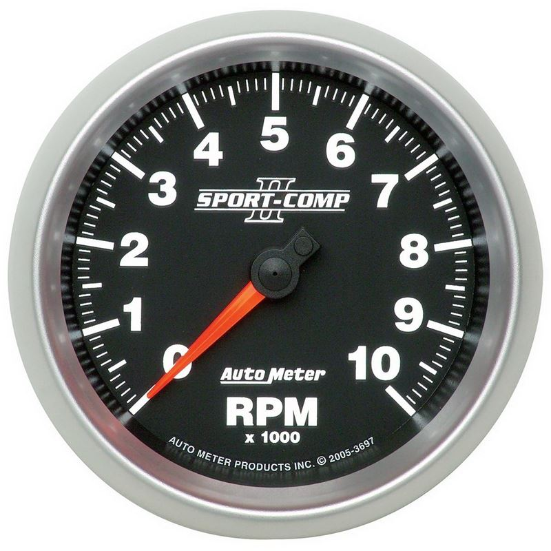 3697 3-3/8 in. In-Dash Tachometer, 0-10,000 RPM, S
