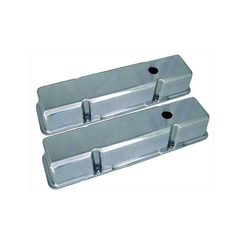 70034 3 11/16 in. Tall Polished Valve Covers, Smal