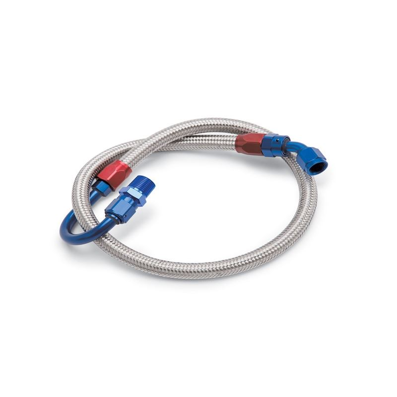 8125 3/8 NPT to -6AN Braided Stainless Steel Fuel