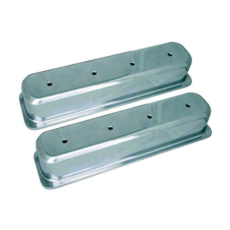 70032 3 11/16 in. Tall Polished Valve Covers, Smal