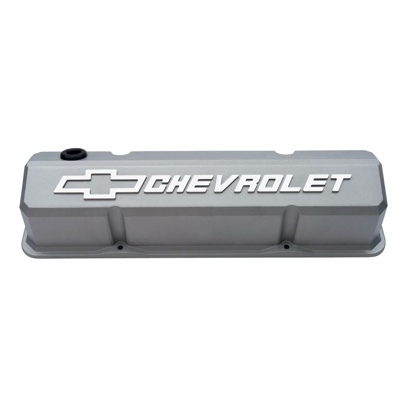 141-925 Valve Covers Slant Edge Tall Die Cast Gray