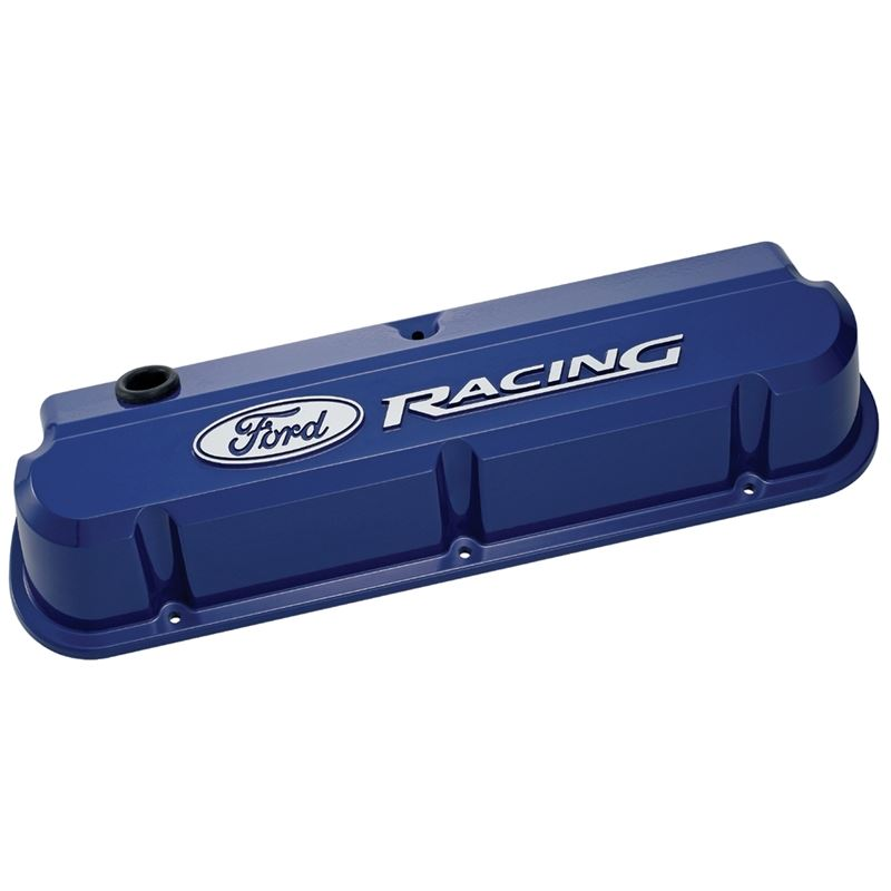 302-136 Valve Covers Slant Edge Tall Die Cast Blue