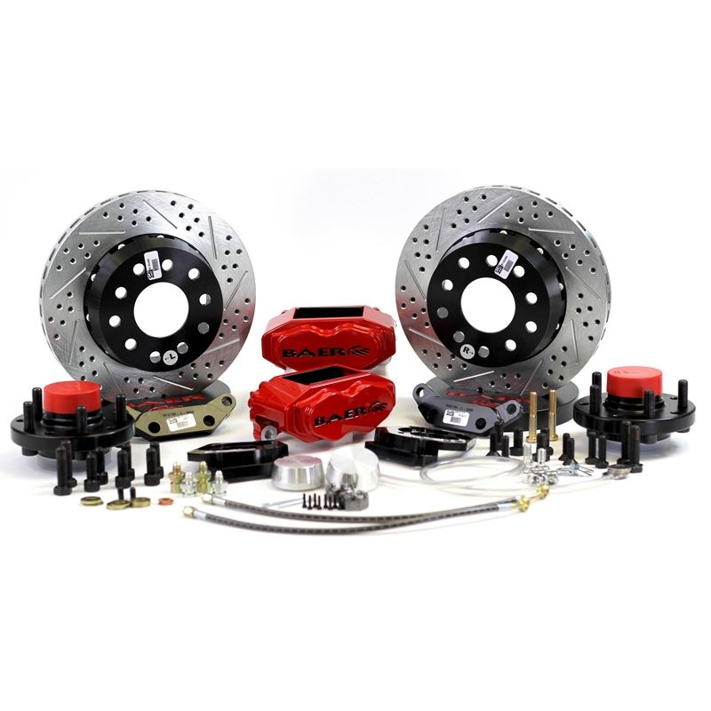 Brake System 11 Inch Front SS4+ Red 71-73 Mustang/